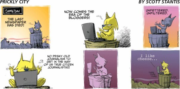 Blogging Cartoon