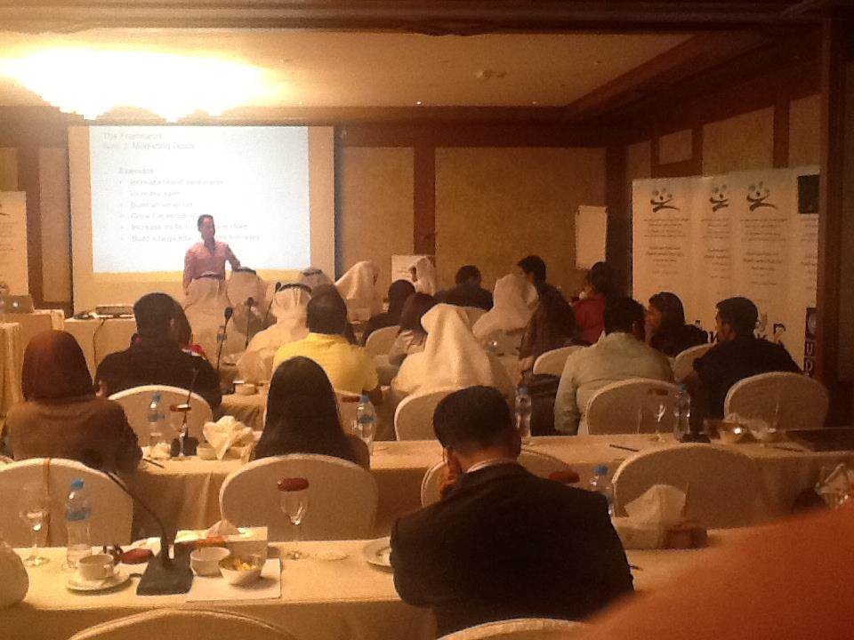 Jeff speaking workshop at Socionet Forum in Kuwait 2013