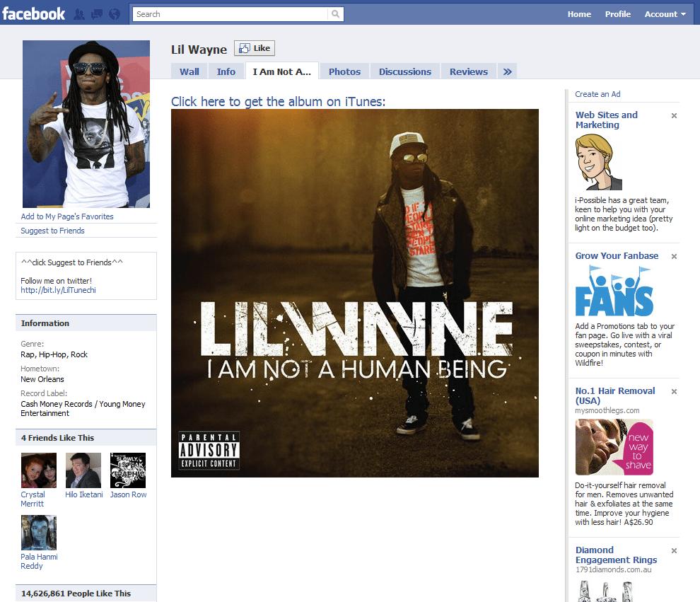 Facebook Page 17  Lil Wayne