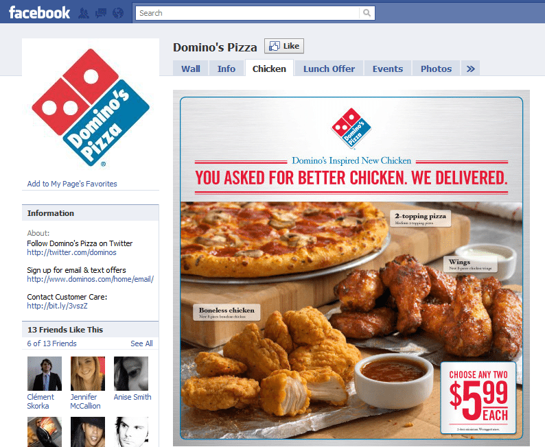 10 Best Facebook Campaigns Dominos