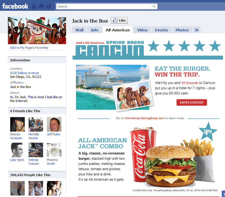10 Best Facebook Campaigns Jack in the box