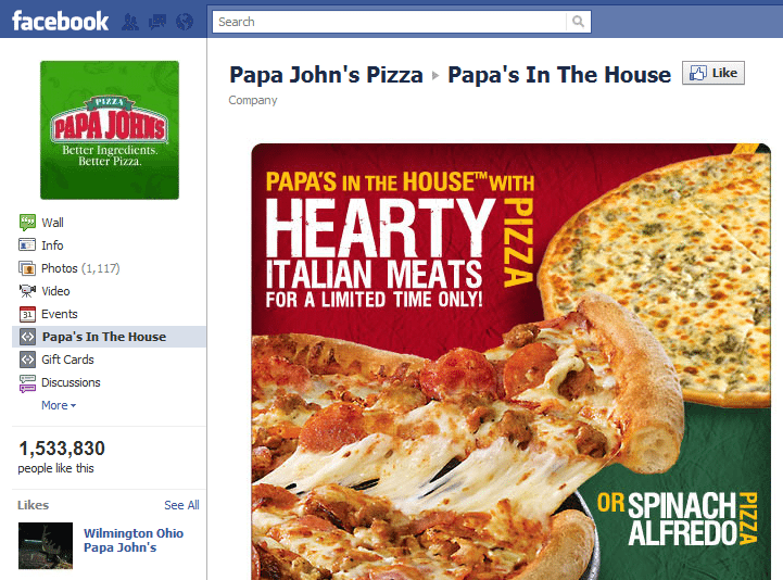 10 Best Facebook Campaigns Papa Johns