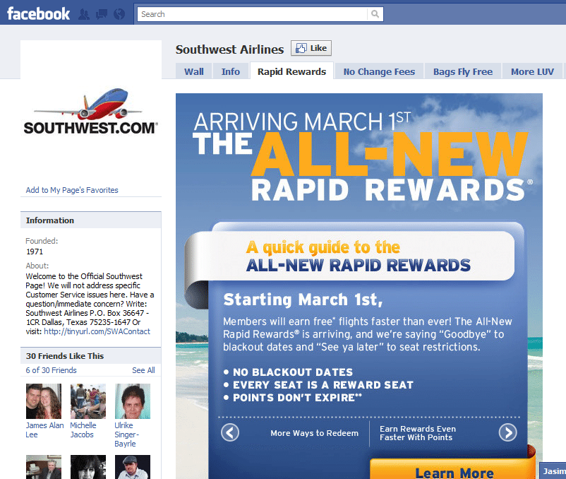 10 Best Facebook Campaigns Southwest
