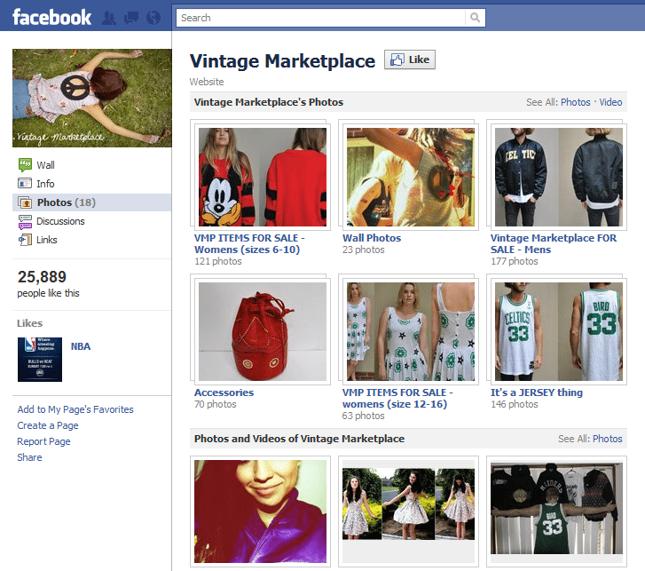 F-Commerce Is Facebook the new shop of the future Vintage Marketplace