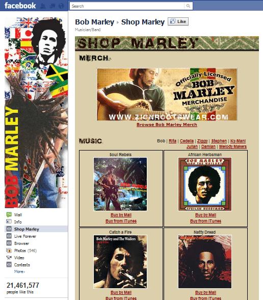 op 10 Musicians Facebook 8 Bob Marley
