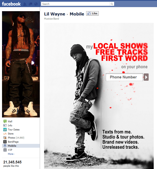 Top 10 Musicians Facebook 9 Lil Wayne - Jeffbullas's Blog