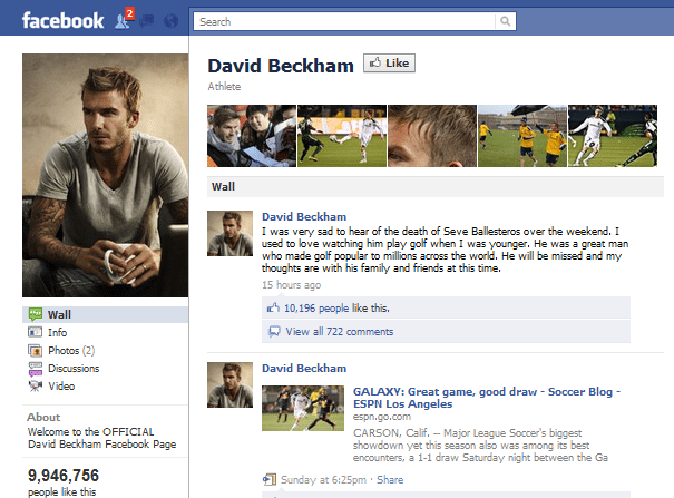 How Do The Top 10 Famous 'Sports Star' Brands On Facebook ...