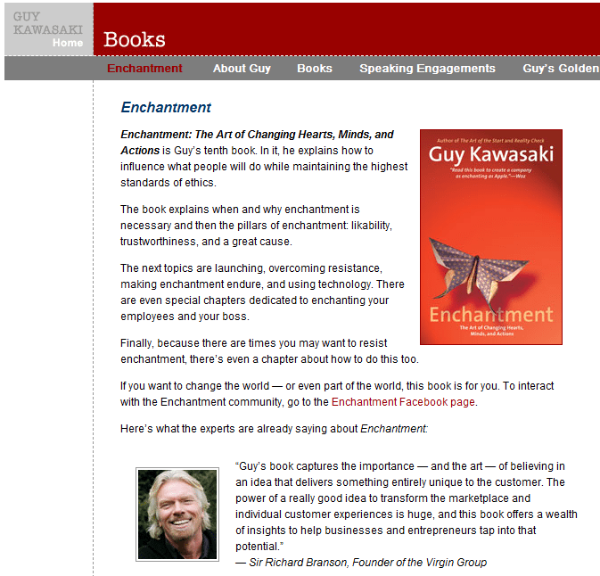 Guy Kawasaki Enchantement Website