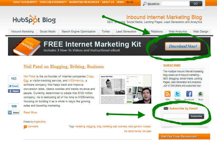 Hubspot Blog Call To Action B2B