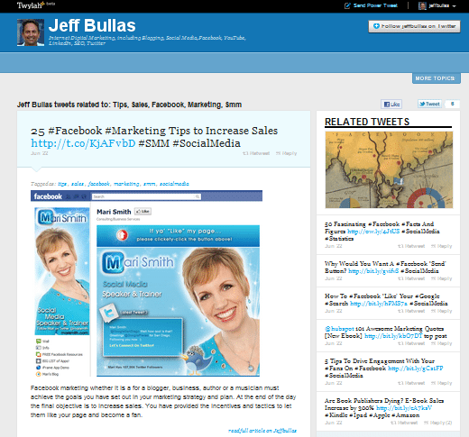 Jeffbullas Twylah Power Tweet