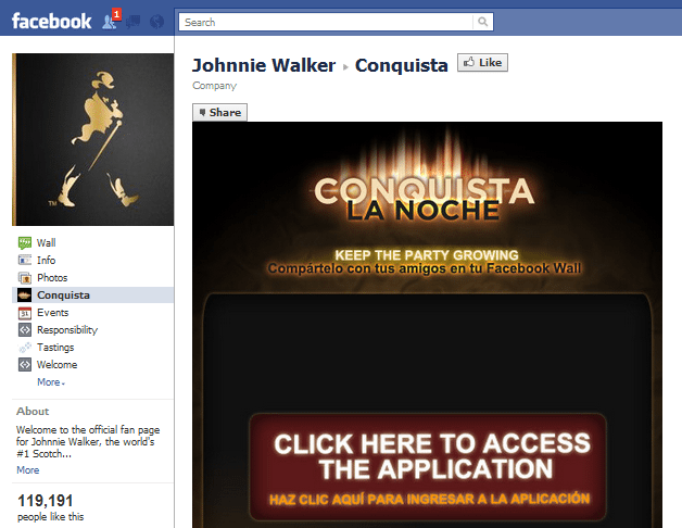 Johnnie Walker Facebook Page