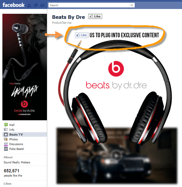 Beats Electronics Facebook Page