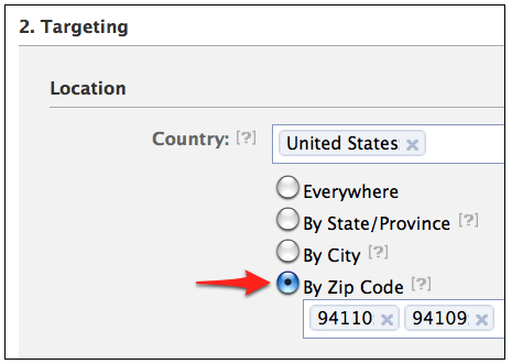Facebook announces Zip code targeted ads