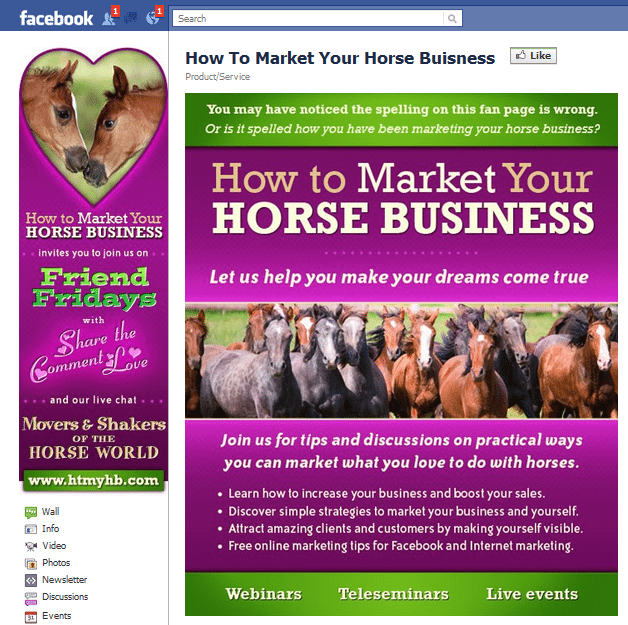 How to Market Your Horse Business Facebook Page