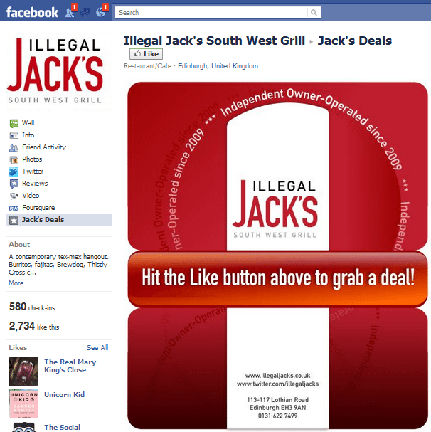 Illegal Jacks Facebook Page