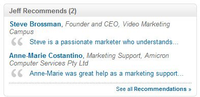 LinkedIn Recommendations