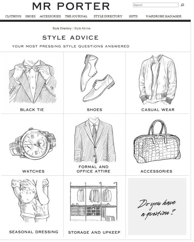 Content, The Heart and Soul of Your Online Brand image Mr Porter Style advice