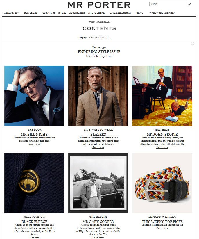 Content, The Heart and Soul of Your Online Brand image Mr Porter The Journal