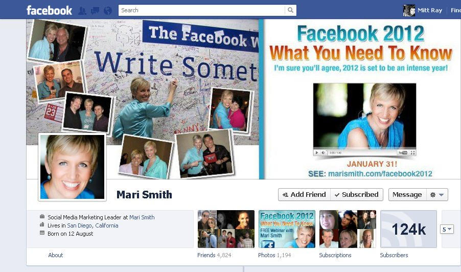 Facebook Profile Mari Smith