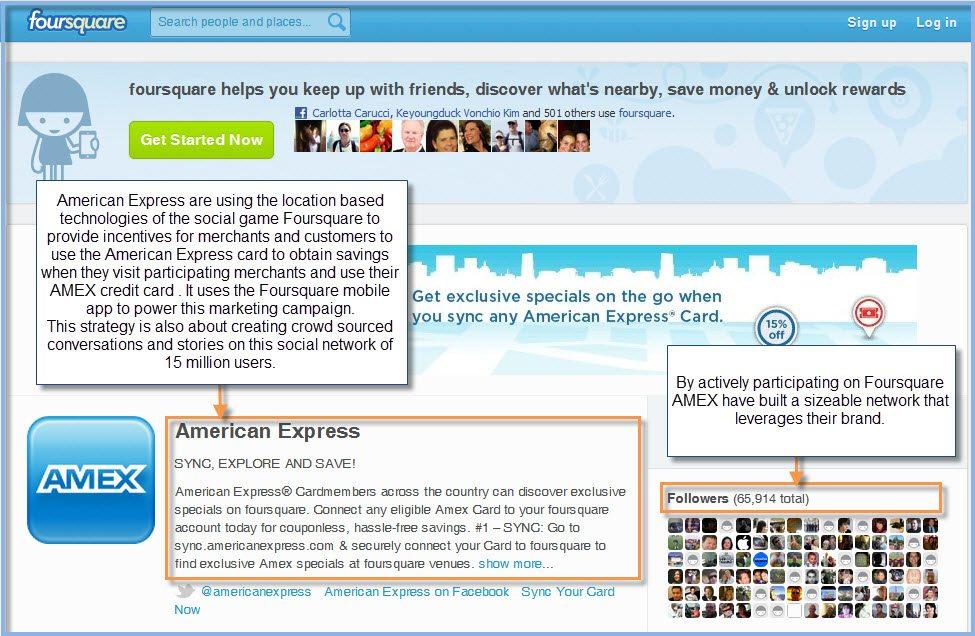 American Express Foursquare