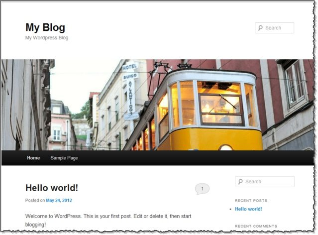 Default WordPress Blog