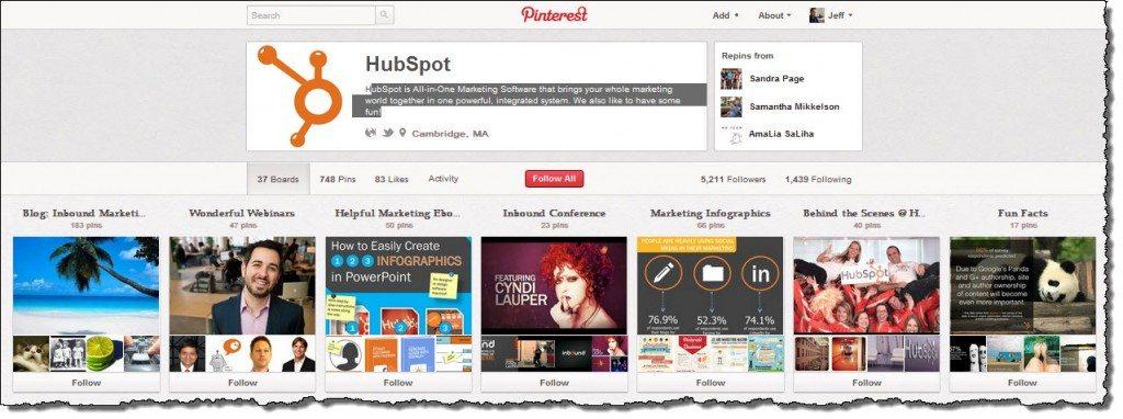 Hubspot Pinterest
