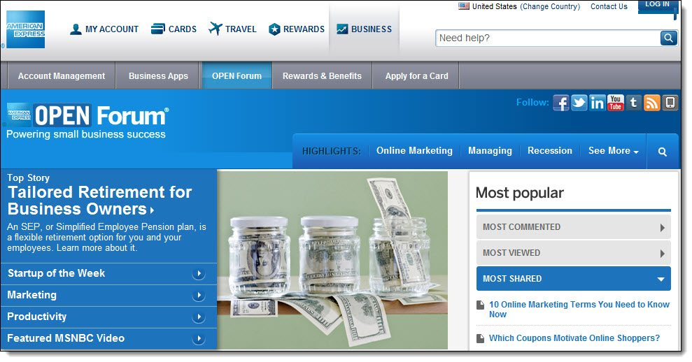 American Express Open Forum Community