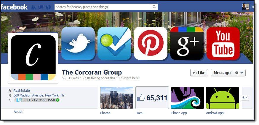 Corcoran Group Facebook Page