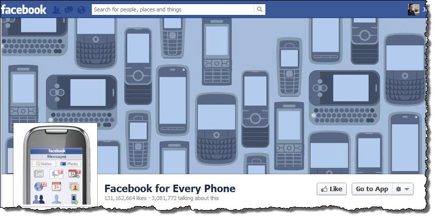 Facebook for every phone page