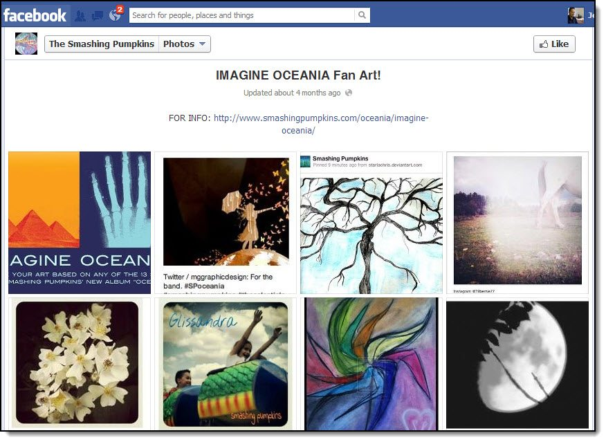 Smashing Pumpkins Facebook Page Imagine Oceania Social Media Competition