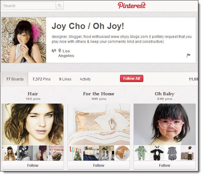 Joy Cho Top 5 on Pinterest