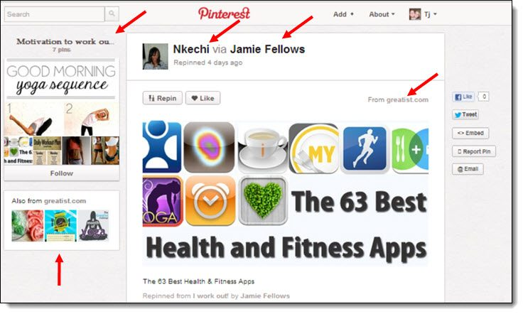 Pinterest for link building