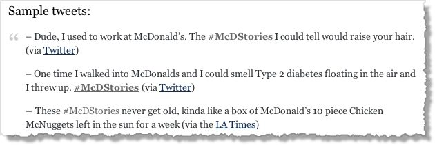 McDStories Hashtag Campaign Disaster