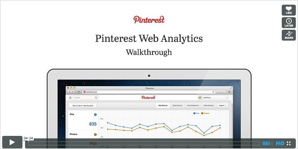Pinterest analytics video