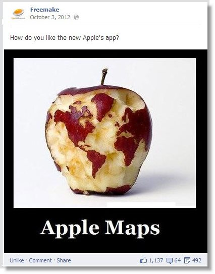 Apple maps facebook