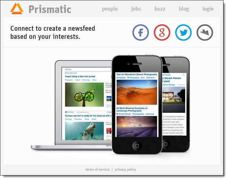 Get Prismatic content curation