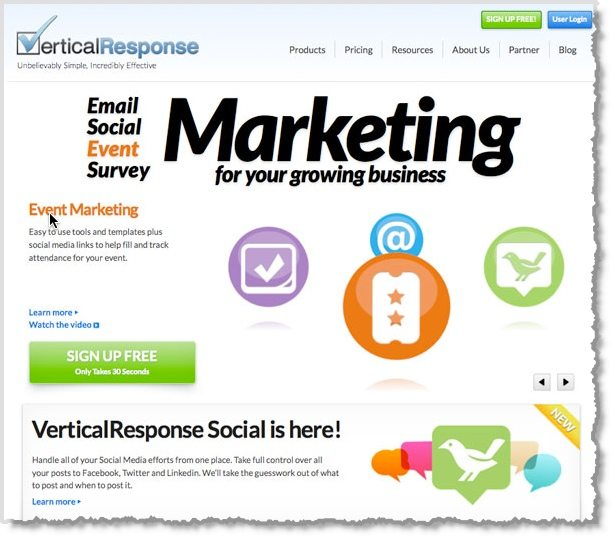 Vertical Response email marketing tool