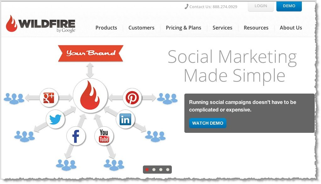Wildfire by Google Social media Enterprise tool
