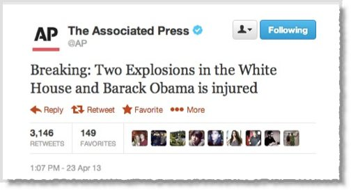 Associated Press Twitter account hijacked