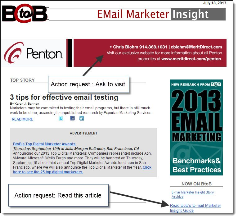 Calls to action on email to drive engagement