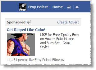 Erny Peibst Goku Facebook Ad