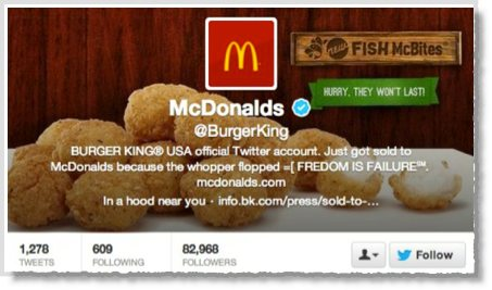 McDonalds Twitter account hijacked