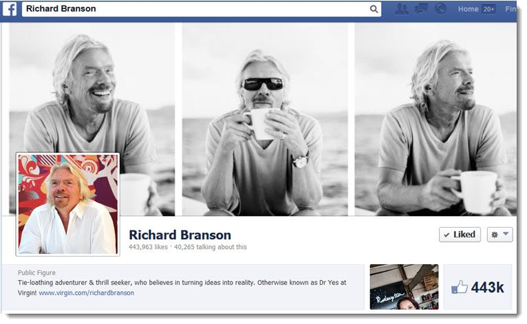 Richard Branson Facebook Page