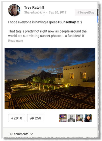 Trey Ratcliff Google+ content