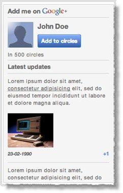 Google+ tool