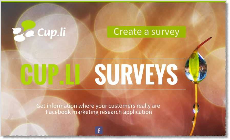 Cup.li Tool for facebook Surveys