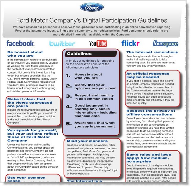 Ford Social Media Policy