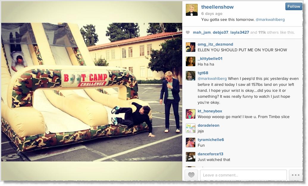 Ellen Show Instagram