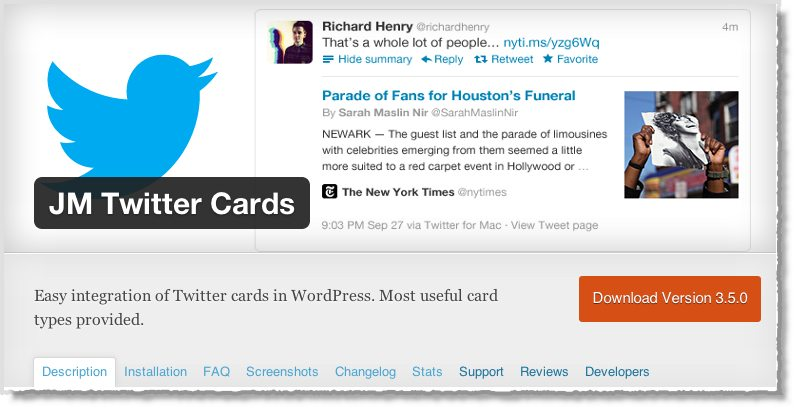 Top 10 WordPress Plugins JM Twitter card