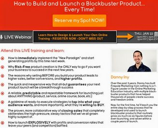 FREE WEBINAR – HOW TO BUILD & LAUNCH A SUCCESSFUL ONLINE PRODUCT